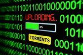 Uploading torrents — Stock Photo