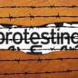 Protest concept on barbwire — Stock Photo #70289869