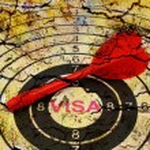 Visa target concept — Stock Photo #70291041