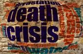 Crisis word cloud — Stock Photo