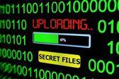Upload secret files — Stock Photo