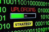 Uploading strategy — Stock Photo