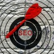 Seo target concept — Stock Photo #72419783