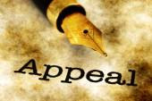 Appeal text on grunge background — Stock Photo
