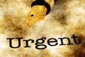 Urgent concept — Stock Photo