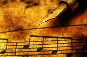 Folha de música — Fotografia Stock