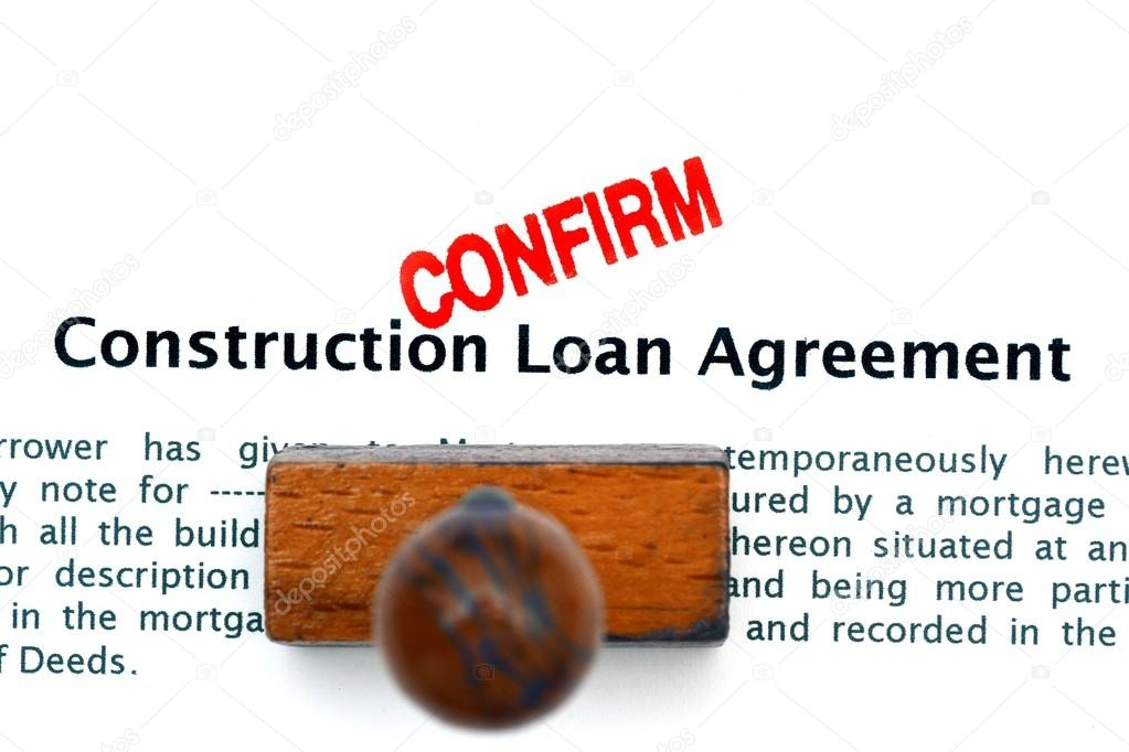Construction Loan Agreement  Stock Photo  Alexskopje