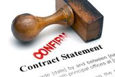 Contract statement — Stock Photo