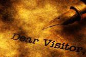 Dear visitor grunge concept — Foto de Stock