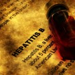 Hepatitis and vial concept — Stock Photo #74335907