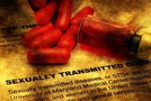 Sexually transmitted disease grunge concept — Stock Photo