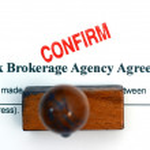 Stock brokerage agreement — Stock Photo #75348037