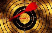 Market target concept on grunge background — Photo