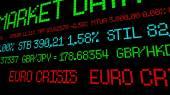 Euro crisis ticker — Stock Photo