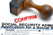 Social security form — Stock Photo