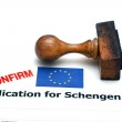 Application for schengen visa — Stock Photo #79010530