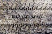 Nightmares concept on grunge background — Stock Photo