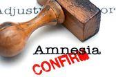 Amnesia confirm — Stock Photo