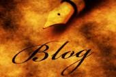 Füllfederhalter auf Blog-text — Stockfoto