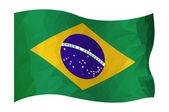 Brasil flag — Stock Vector