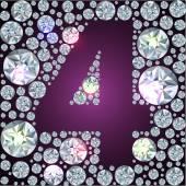 Diamant nummer vier — Stockvektor