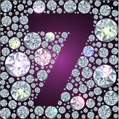 Diamant nummer sieben — Stockvektor