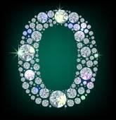 Diamond siffran noll — Stockvektor