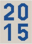 Knitted decorative 2015 sign — Stock Vector