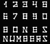 Set of bones numbers — Stock Vector