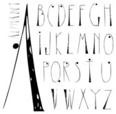 Hand drawn grunge alphabet — Stock Vector