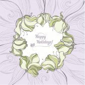 Floral holiday card — Stock Vector