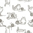Well-fed playful cats — Stock Vector #67232193