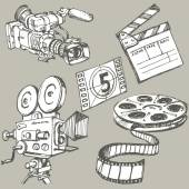 Movie Industry attributes — Stock Vector