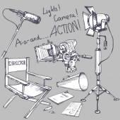 Movie Industry attributes — Stock Vector