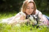 Love the dog — Stock Photo