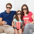 Family Watching 3D Movie — Zdjęcie stockowe #52161471