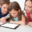 Family Using Digital Tablet — Stock Photo #52163837