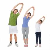 Fit Family Doing Stretching Exercise — Foto de Stock