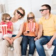 Young Family Watching 3D TV — Стоковое фото #53302317