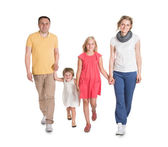 Happy Young Family Walking Together — Stock Photo