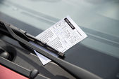 Parking Ticket On Car — Stock Photo