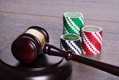 Gambling legal concept — Stock Photo