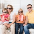 Young Family Watching 3D TV — Стоковое фото #55360107