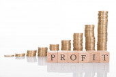Business profits growth chart — Foto de Stock