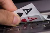 Online gambling concept — Stock Photo