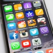 Closeup Of Apple iPhone6 With Various Apps On Screen — Stock Photo #55986051