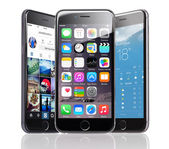 Apple iPhones 6 With Various Applications — Stock Photo
