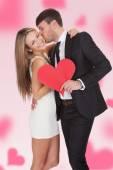 Man Kissing Girlfriend — Stock Photo