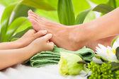 Masseuse Massaging Woman — Stock Photo