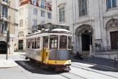 Tram   On Street, Portugal — Stock Photo